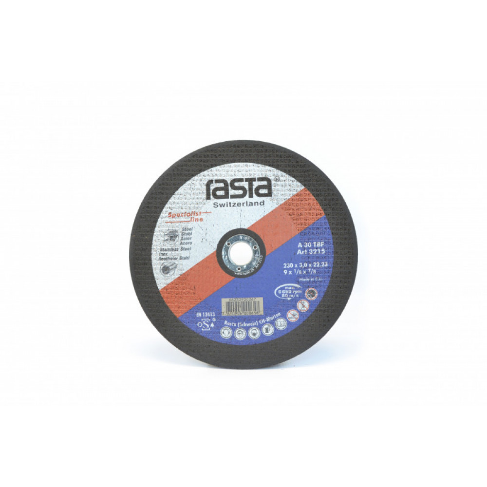 "Disco Corte Metal 9 X 1/8""  3215 Rasta"