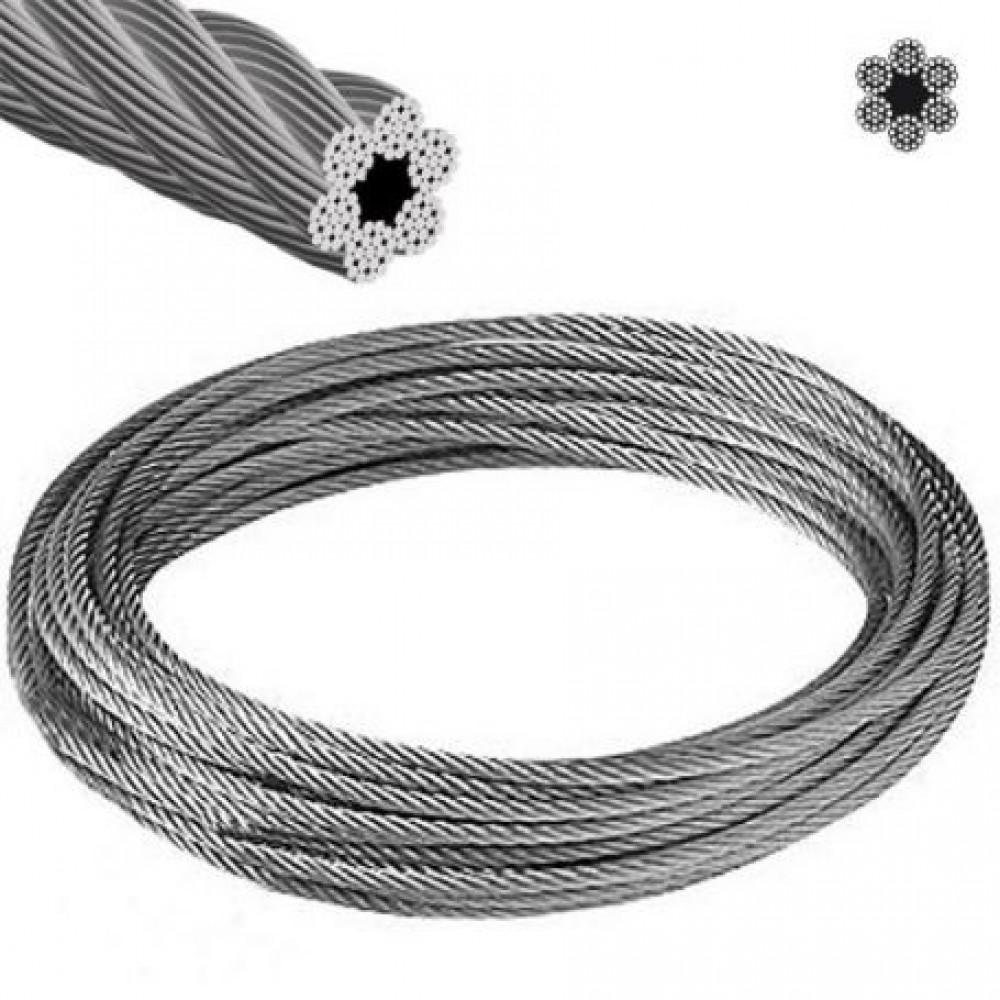 """Cable Acero 1/2"""" 6 Hilos X 19 Hebras"""
