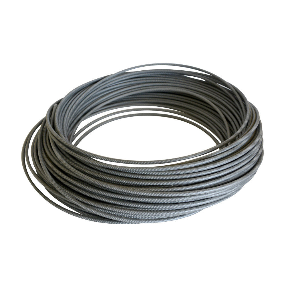 Cable Acero 3 Mm 7 Hilos X 7 Hebras Forrado