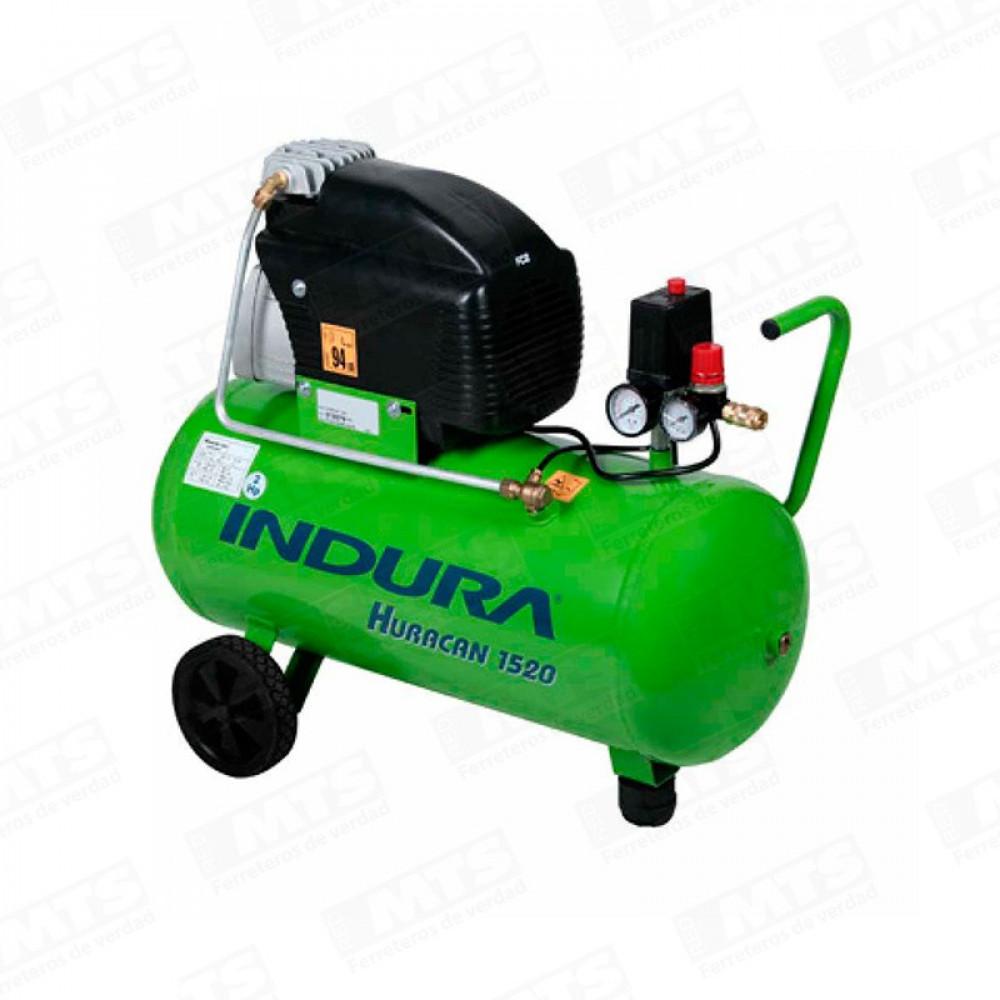 Motocompresor 50 Lt  2hp  8 Bar  135 L/min Con Accesorios Huracan 1520 Indura