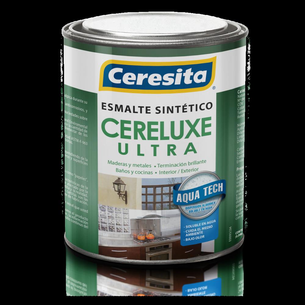 Esmalte Sintetico Cereluxe Ultra Negro 1/4gl