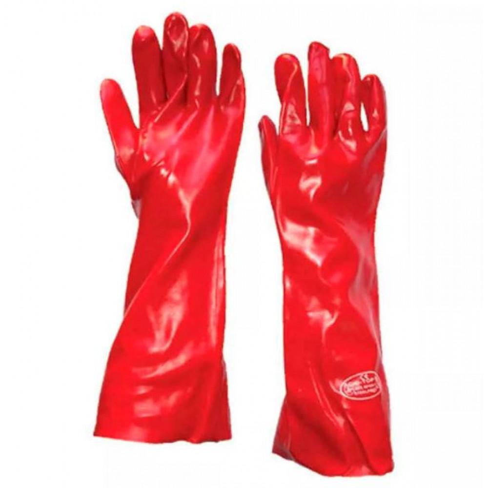 Guante Sinttico Pvc Rojo 45 Cm S Par
