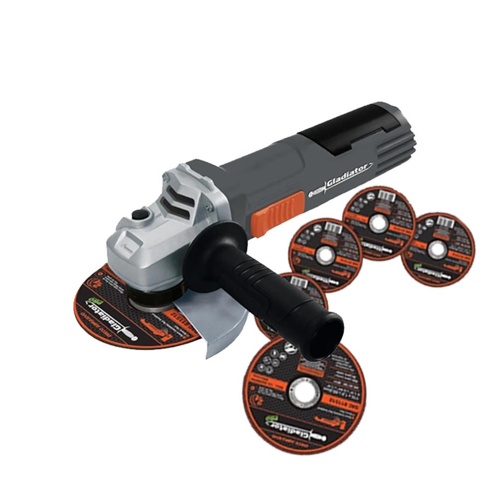 Esmeril Angular Gladiator 4  800 W + 5 Discos