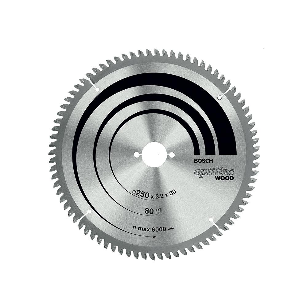 Disco De Sierra Circular 10 80t Optiline  Bosch
