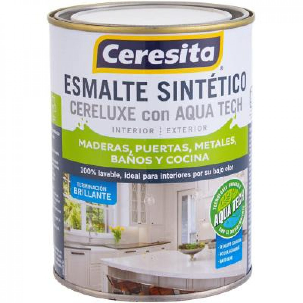 ESMALTE SINTETICO CERELUXE ULTRA CAFE MORO 1/4GL