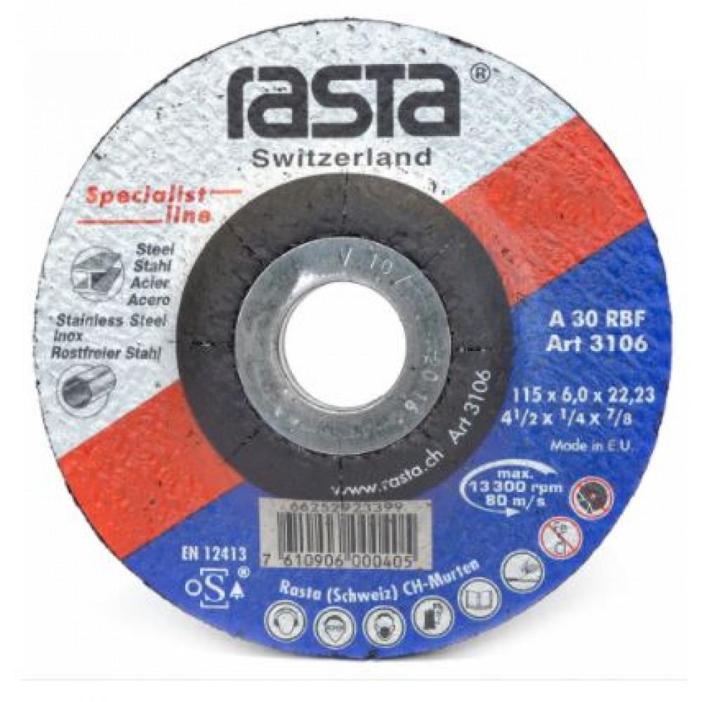 """DISCO DE DESBASTE 9 X 1/4"""" METAL RASTA"""