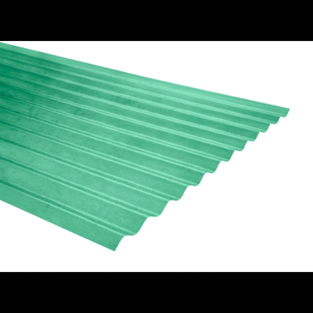 Plancha Fibra Vidrio Onda Zinc 3.00mt Verde