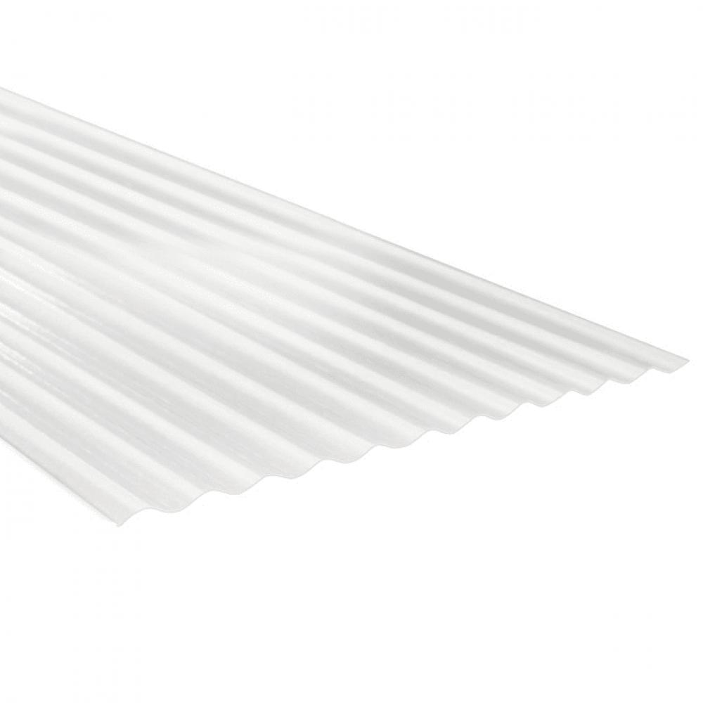 Plancha Fibra Vidrio Onda Zinc 3.50mt  Natural