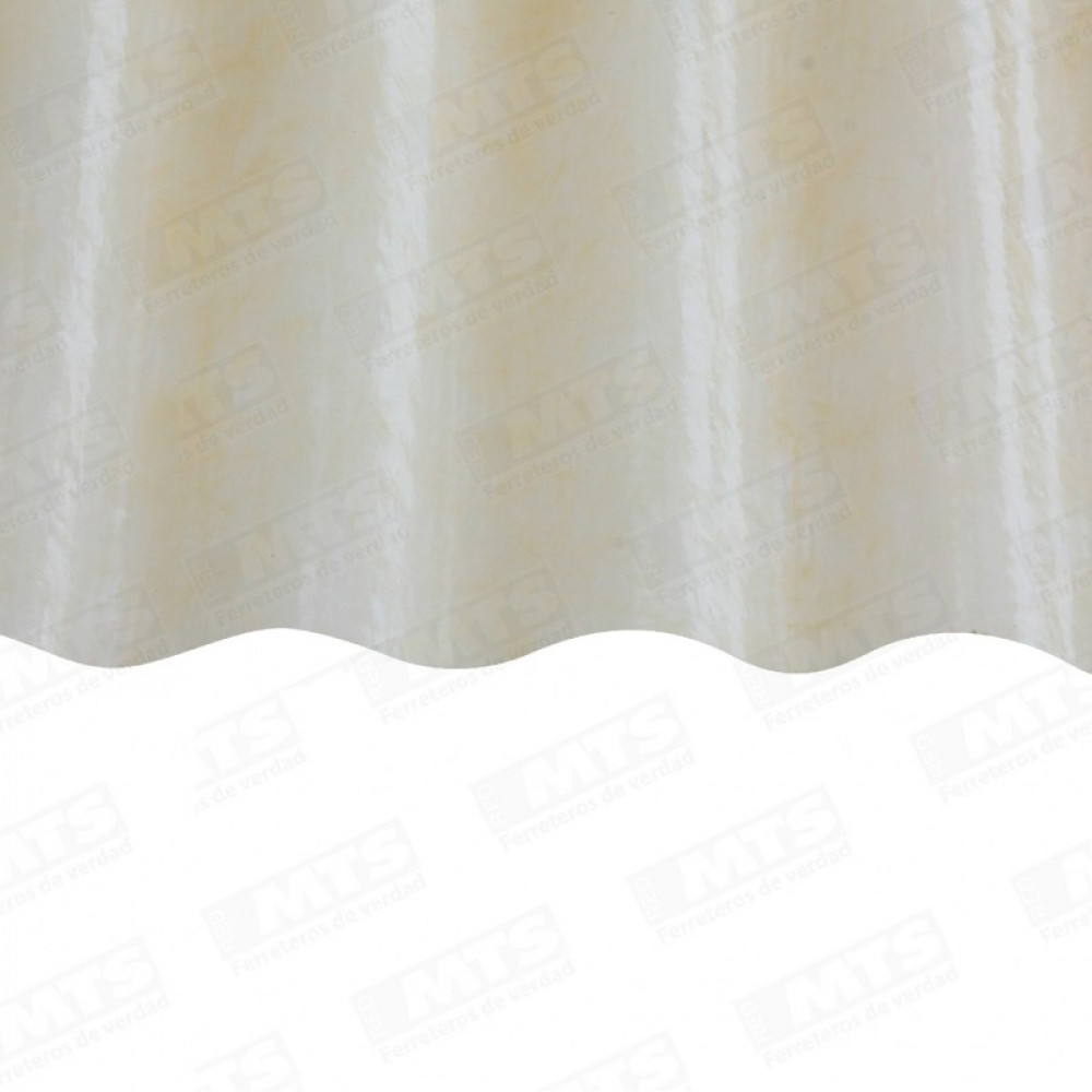 Plancha Fibra Vidrio Onda Zinc 2.50mt Amarillo