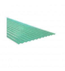 Plancha Fibra Vidrio Onda Zinc 2.00mt Verde