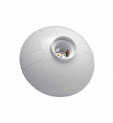 Portalampara Plafon Oval Blanco