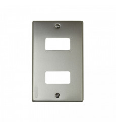 Placa Doble Aluminio Magic Bticino