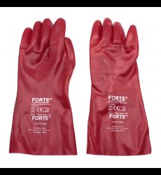 Guante Sinttico Pvc Rojo 35 Cm S Par