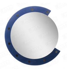 Espejo Redondo 75x75cm Diseno Azul (fs)