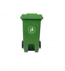 Basurero C/tapa 240lt Pedal Frontal Verde