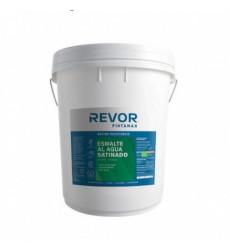 Esmalte Al Agua Satin Revor Blanco 5gl Tineta