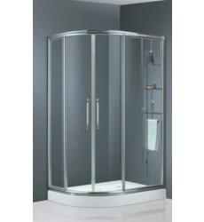 SHOWER DOOR 80X100X195 BLANCO CURVO DERECHO