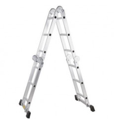 Escalera Multiuso Aluminio 12 Peldaos Articulada 140 Kg