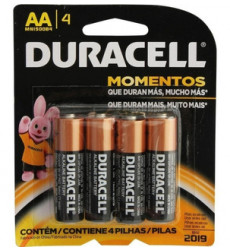 PILAS AA BLISTER 4 UNIDADES DURACELL