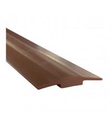 CUBREJUNTA PVC PLANO 1 MT CAFE DVP