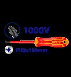 Atornillador Cruz Aislado Ph2x100mm Eawh131222 Emtop