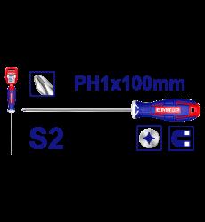 Atornillador Cruz Ph1x100mm Emtop