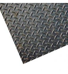 Plancha De De Acero Diamantada 2.5 Mm 1x3 Mts
