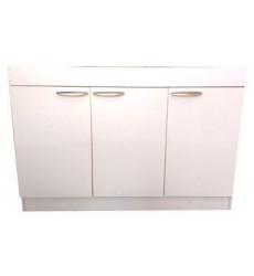 Mueble Lavaplato 120 Cm Puerta Melamina Blanca