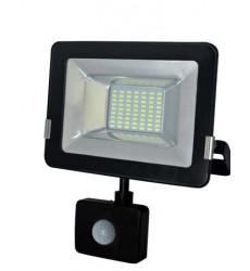 Reflector Led Slim 10w C/sensor Luz Fria Want