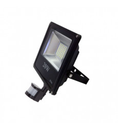 Reflector Led Slim 20w C/sensor Luz Fria Want