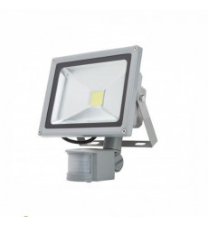 Reflector Led Slim 50w C/sensor Luz Fria Want