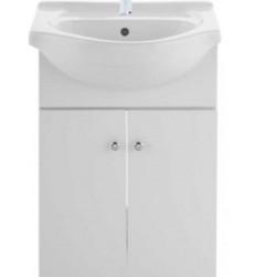Mueble Vanitorio Cubierta Loza Blanco 50 Cm Nuovo