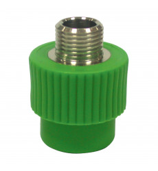 """TERMINAL HE 20 MM X 3/4 """" FITTING PPR (TERMOFUSION)"""