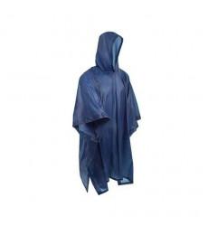 Poncho   Pvc  Azul Impermeable 0.10 Delgado