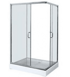 Shower Door 80x80x195 Recto C/ Receptaculo