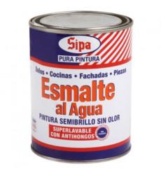 ESMALTE AL AGUA BLANCO 1/4 GALON SIPA