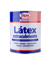 LATEX LINEA EXTRA CUBRIENTE BLANCO GALON SIPA