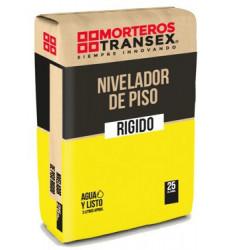 MORTERO NIVELADOR DE PISO RIGIDO 25 KG TRANSEX