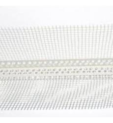 Esquinero PVC 5 X 5 mm c/ Malla Fibra de Vidrio 2,5 MT
